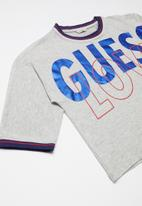 GUESS - Midi sleeve T-shirt - grey