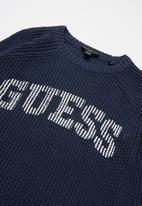 GUESS - Printed Knitwear Top  - navy 1