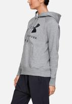 Under Armour - Rival fleece sportstyle graphic hoodie - heather grey