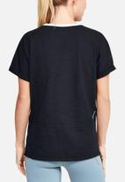 Under Armour - Charged cotton short sleeve top - black & white