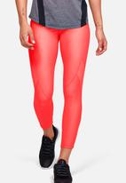 Under Armour - HeatGear® armour jacquard c&s ankle crop - bright neon coral beta