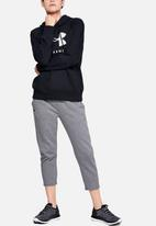 Under Armour - Rival fleece sportstyle graphic hoodie - black
