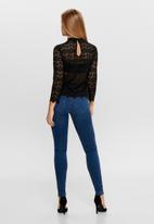 Jacqueline de Yong - Blond 7/8 lace top JRS - black