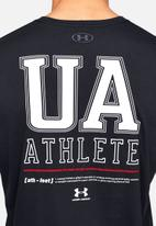 Under Armour - Under Armour vertical left chest logo short sleeve tee - black