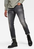 G-Star RAW - 3301 straight cut tapered sato stretch jeans - black