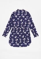GUESS - Printed shirt dress - navy