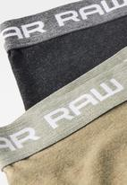 G-Star RAW - Classic heather trunk 2 pack - black & brown