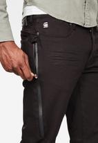 G-Star RAW - Citishield 3D slim fit tapered ac thermojust stretch jeans - black