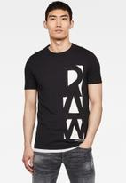 G-Star RAW - Vertical raw graphic slim fit short sleeve tee - black