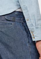G-Star RAW - Varve relaxed fit pleated chino - faded navy