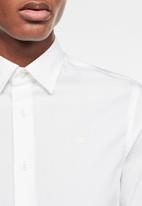 G-Star RAW - Dressed super slim fit long sleeve shirt - white