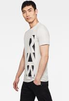 G-Star RAW - Vertical raw slim fit tee -  grey