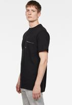 G-Star RAW - Pocket loose short sleeve tee - black