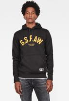 G-Star RAW - Graphic 14 core long sleeve hoodie - black