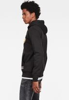 G-Star RAW - Graphic 14 core long sleeve hoodie - black