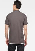G-Star RAW - Cut & sewn graphic slim fit polo - grey