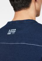 G-Star RAW - Raw embro gr pocket tee - worn indigo
