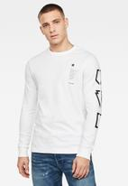 G-Star RAW - Multi arm GR shield tee - white