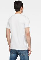 G-Star RAW - Perspective logo gr slim fit tee - white
