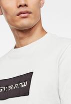 G-Star RAW - Box logo embro GR short sleeve tee - cool grey