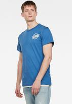 G-Star RAW - Chest logo gr short sleeve tee - thermen blue