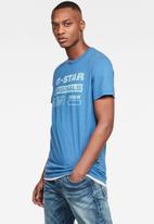 G-Star RAW - Originals water slim fit tee - blue
