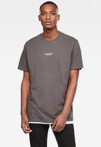 G-Star RAW - Center chest logo gr loose short sleeve tee - grey
