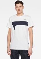 G-Star RAW - One cut & sewn graphic slim fit polo - white