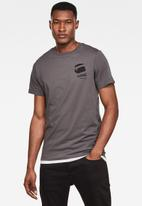 G-Star RAW - Big logo back gr short sleeve tee - grey