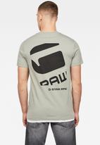 G-Star RAW - Big logo back graphic short sleeve tee - grey