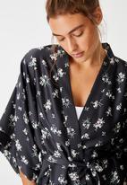 Cotton On - Satin kimono gown - multi
