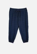 Cotton On - Curve flannel sleep pant - simple navy check