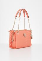 GUESS - Blakely status luxe satchel - coral