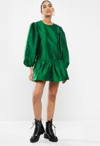 Blake - Taffeta mini dress - green