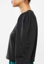 Blake - Balloon sleeve sweater - black