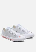 Converse - Chuck taylor all star love canvas - photon dust/university red