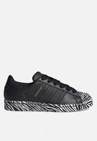 adidas Originals - Superstar w - core black, gold met & ftwr white