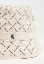 Pringle of Scotland - Daniel hat - stone & navy