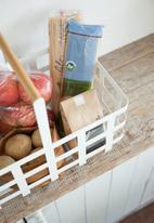 Yamazaki - Tosca basket with wood handle - white