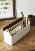 Yamazaki - Tosca pen & letter stand - white & brown