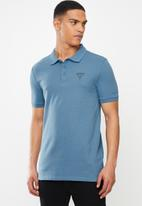 GUESS - Short sleeve fashion polo - blue