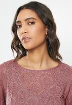 Jacqueline de Yong - Cole cropped pullover knit - mauve
