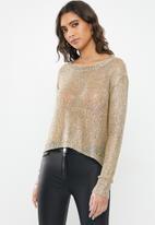 Sissy Boy - Igor: sequin lurex knitwear - gold