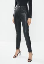 GUESS - Poison python coated pants - black
