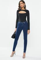 Sissy Boy - Joey sculpt knit jegging with bling -  navy