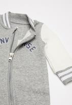 Converse - Converse varsity knit coverall - grey