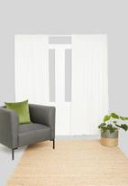 Sixth Floor - Textured sheer taped curtain - white