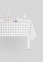 Sixth Floor - Check-in table cloth - white