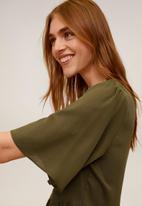 MANGO - Dress Rita - khaki