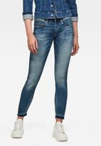 G-Star RAW - 3301 mid skinny  ankle - faded azurite